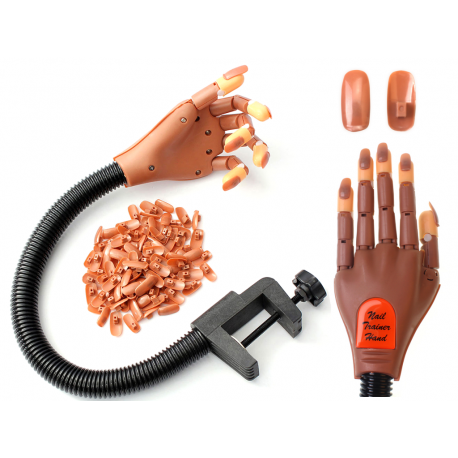 Hit! Dłoń treningowa do manicure żeli lakierow hyb